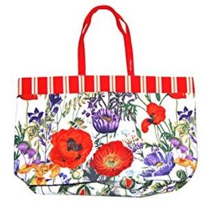 Floral tote bag by Estée Lauder Heavy Duty Canvas